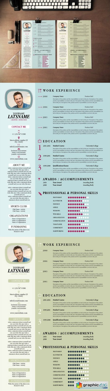 Clean Creative Resume CV