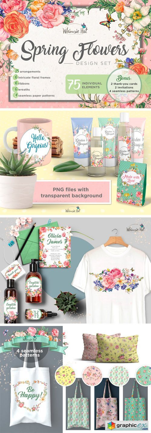 Spring Flowers Design Set