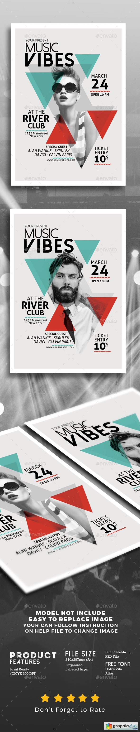 Graphicriver Minimal Music Flyer Template