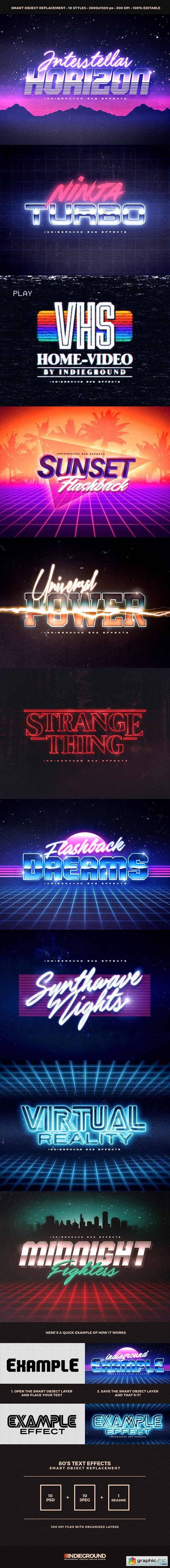 80s text effects free