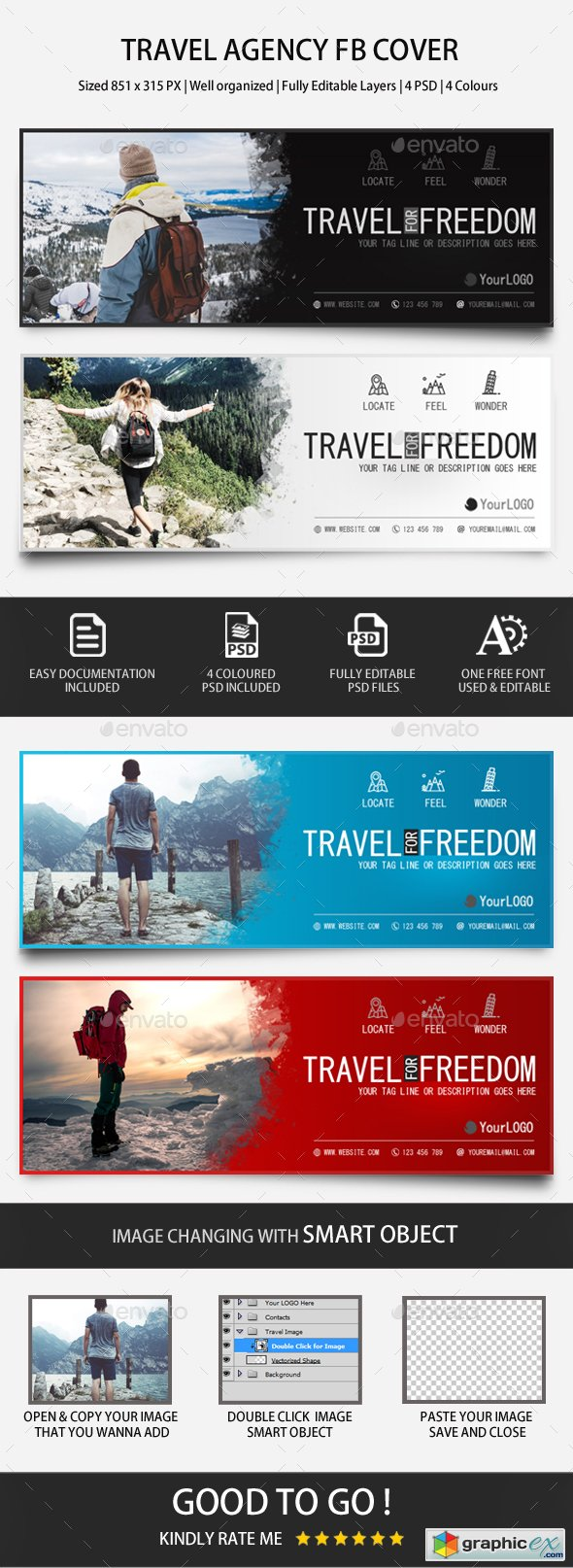 Graphicriver Travel Agency FB Covers