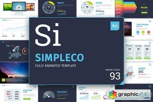 simpleco keynote presentation template » free download vector, Powerpoint templates