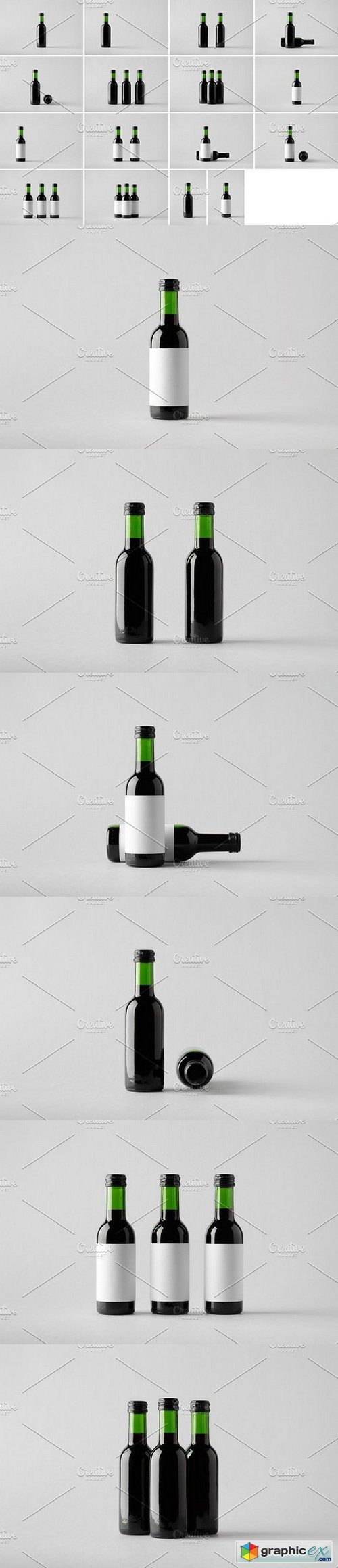 Wine Bottle Mock-Up Photo Bundle