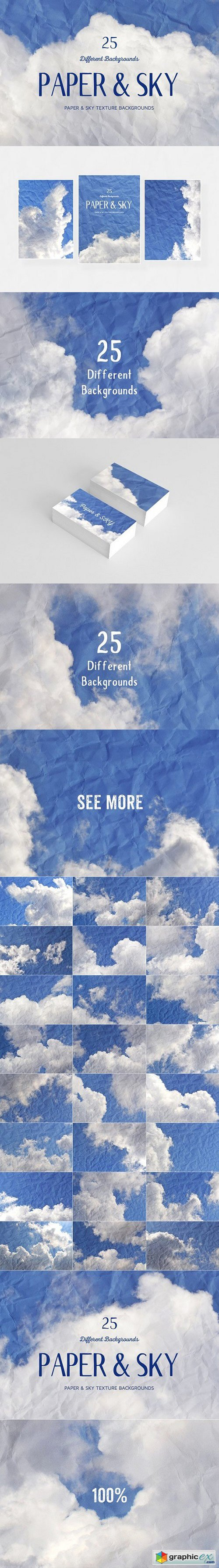 25 Paper & SKY Backgrounds