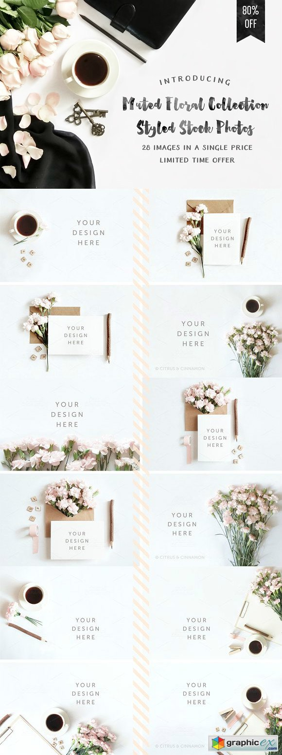 Muted Floral Styled Stock Mockups