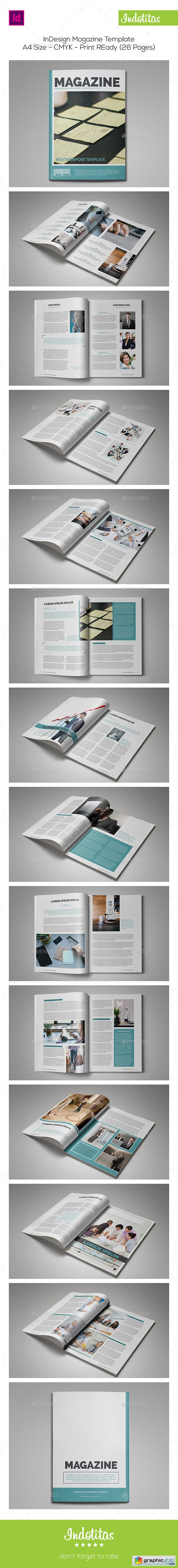 InDesign Magazine Template 8954436