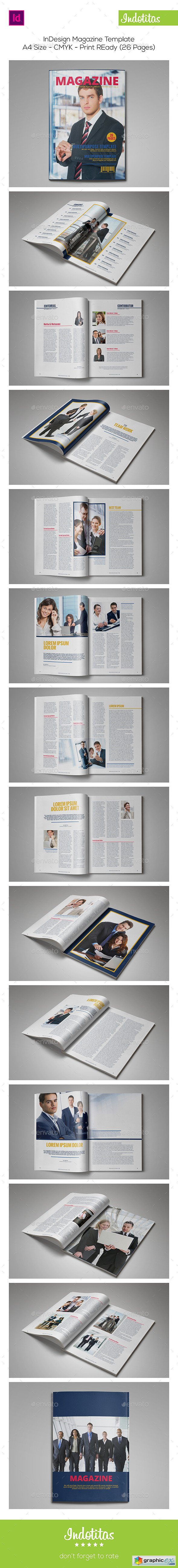InDesign Magazine Template 9073383