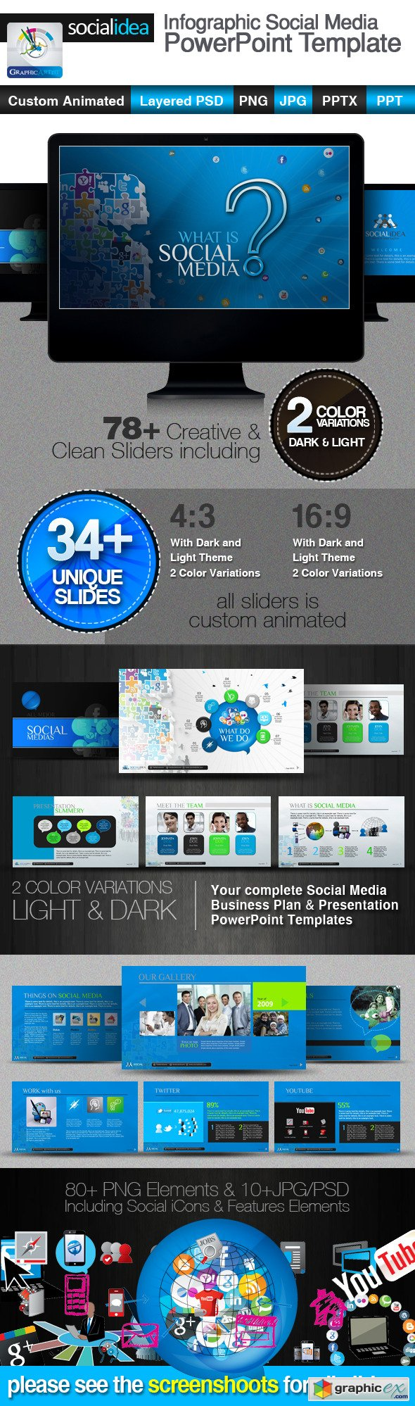 Socialidea Social Media PowerPoint Templates
