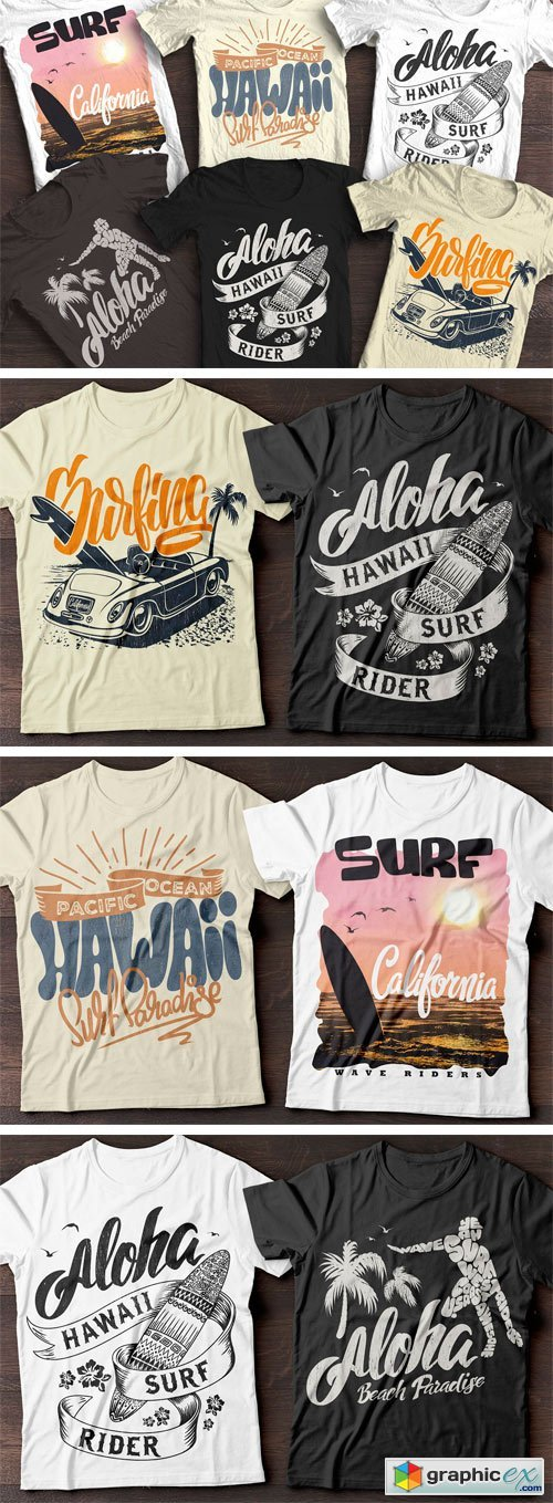 Summer Surf T-Shirt Print