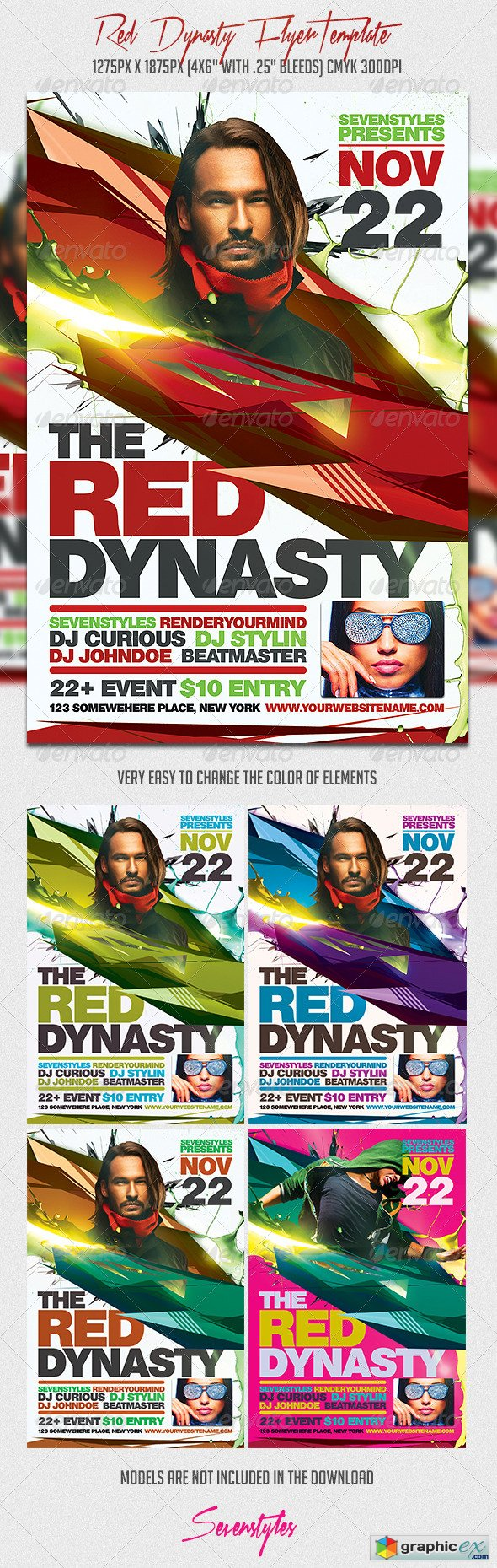 Graphicriver Red Dynasty Flyer Template