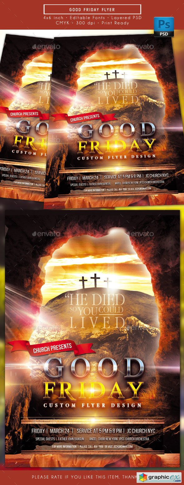 Graphicriver Good Friday Flyer