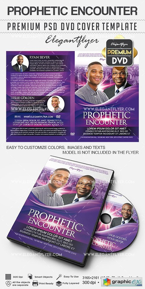 Prophetic Encounter � Premium DVD Cover PSD Template
