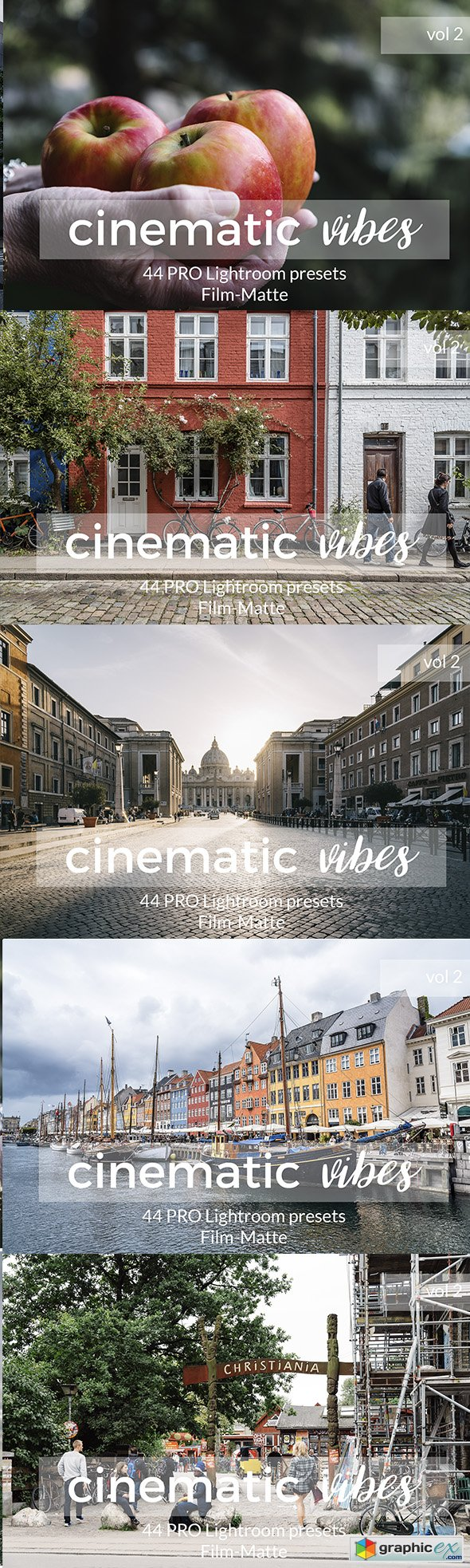 Graphicriver Cinematic Vibes Vol 2 Lightroom Presets