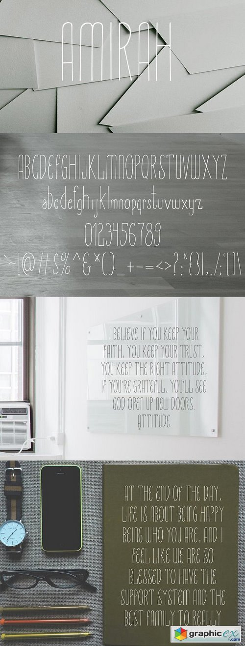 Amirah Display Typeface