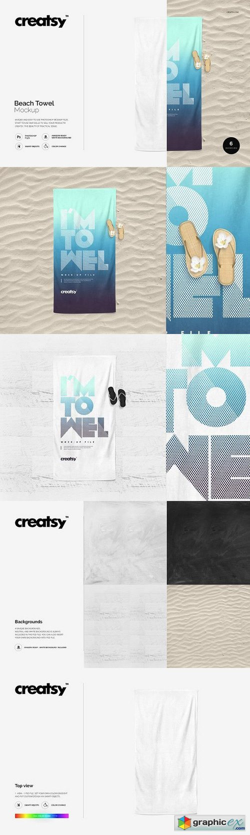 Beach Towel Mockup 1164224