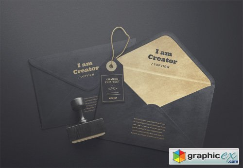 PSD Mock-Up - I Am Creator - Envelope For Mail