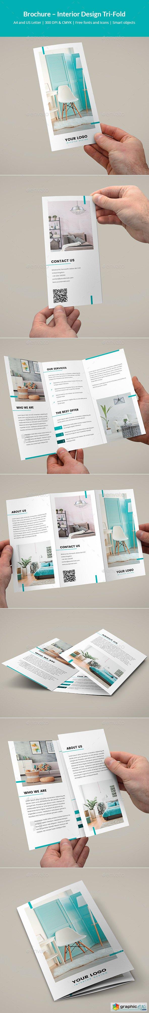 Brochure   Interior Design Tri-Fold » Free Download Vector