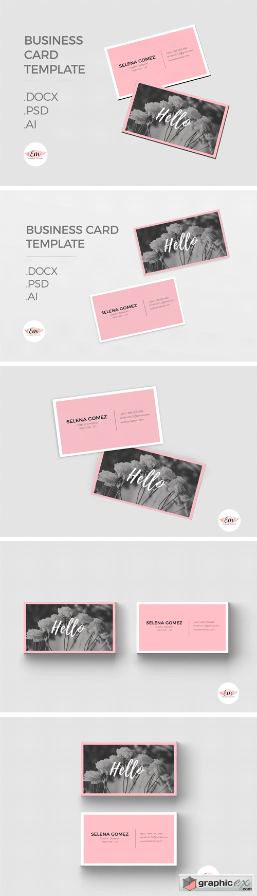 Elegant Business Card Template 1340846