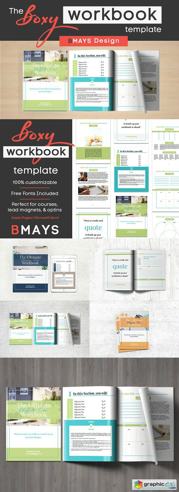 Boxy Workbook & Layout Template