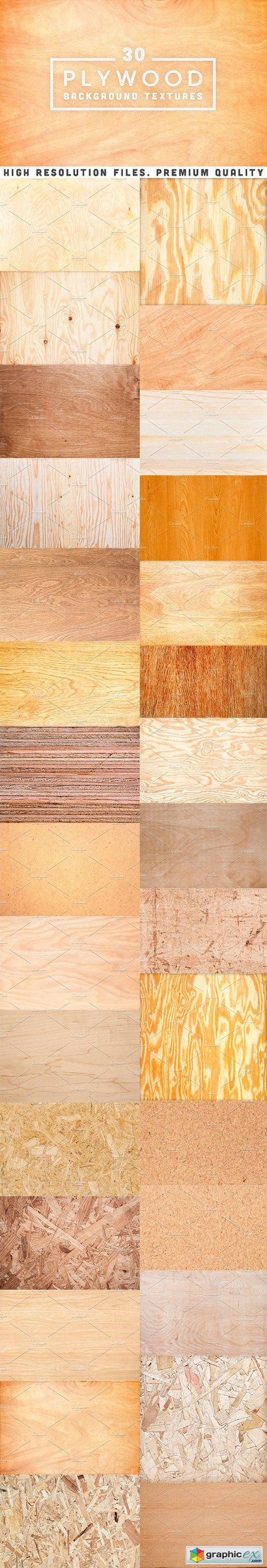 30 Plywood Background Textures