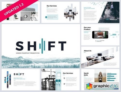 Shift Modern Powerpoint Template Free Download Vector Stock Image