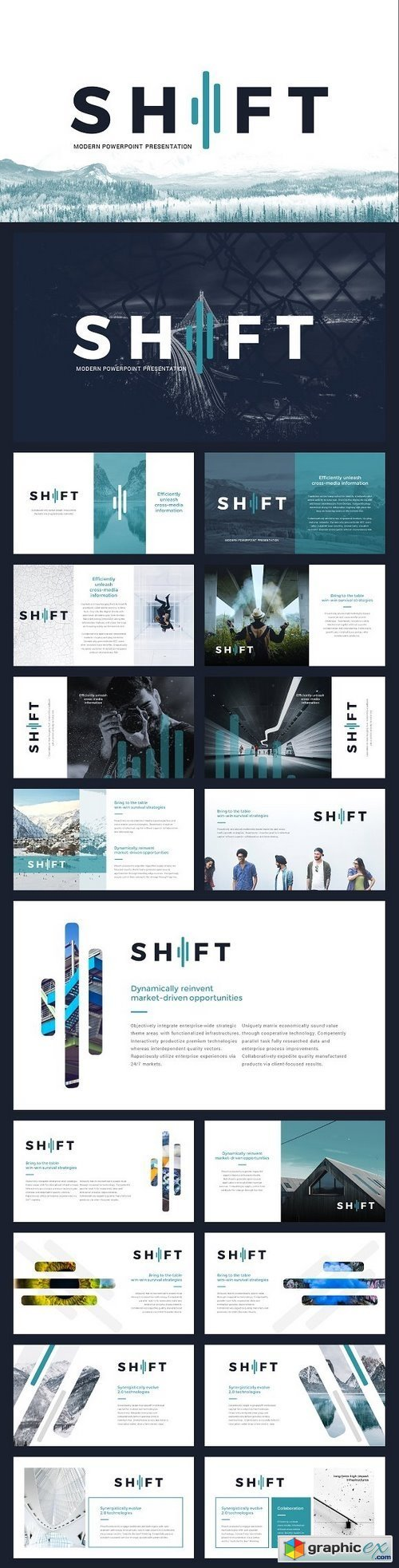 Shift Modern Powerpoint Template » Free Download Vector