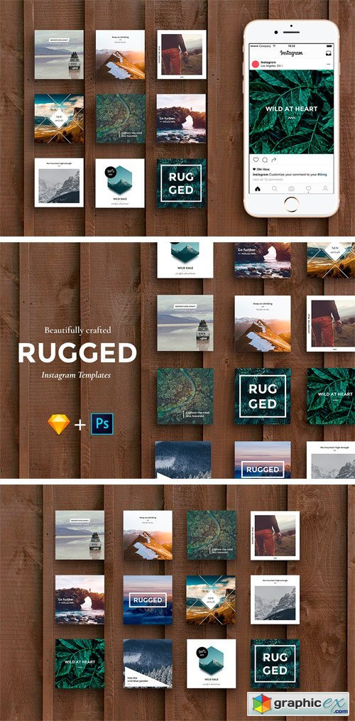 Rugged - Instagram Pack