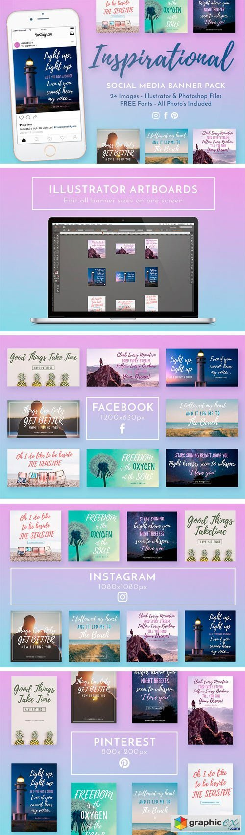 Inspirational Social Media Banners