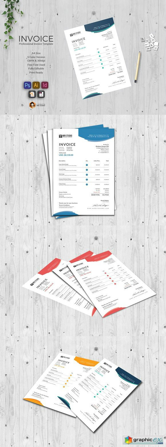 Stylish Invoice Template 1394773