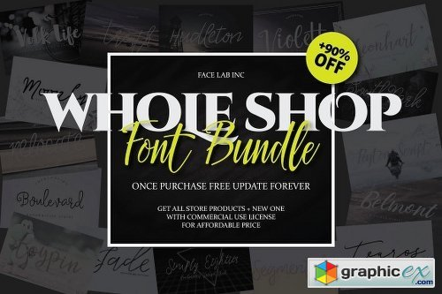 Font Bundle - Shop Bundle 1260342