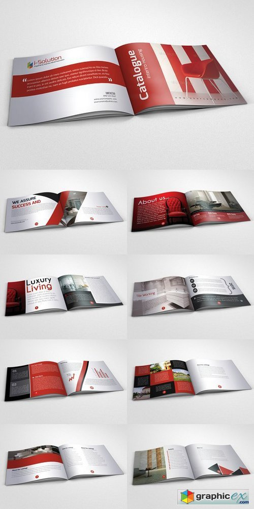 20 Pages Bi Fold Brochure Catalog 767876