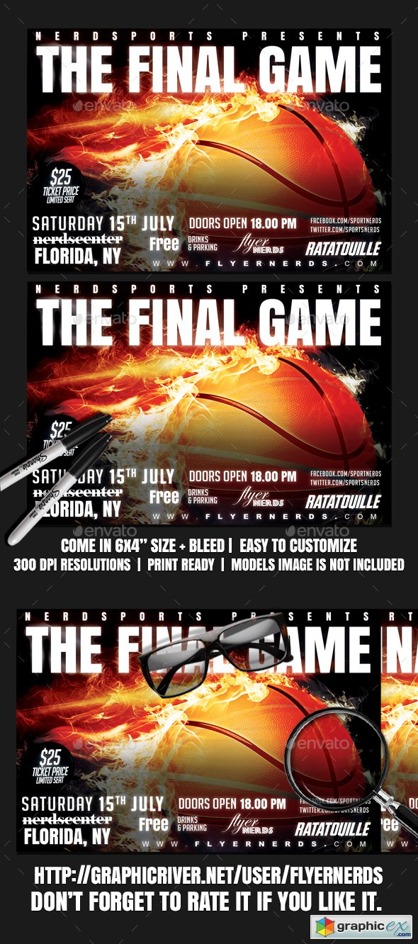 Basketball Final Game Sports Flyer