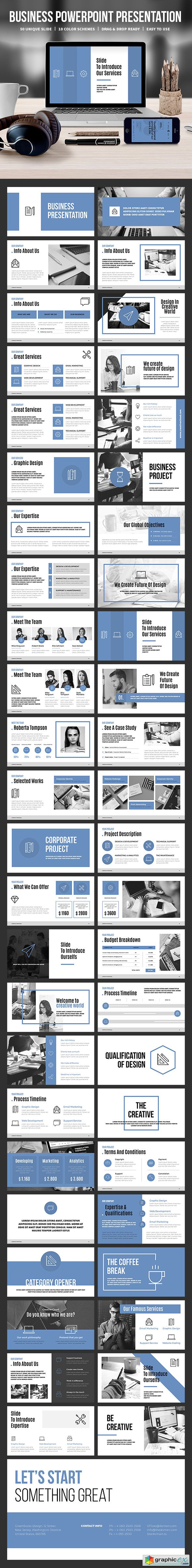 Business Powerpoint Template 19440627