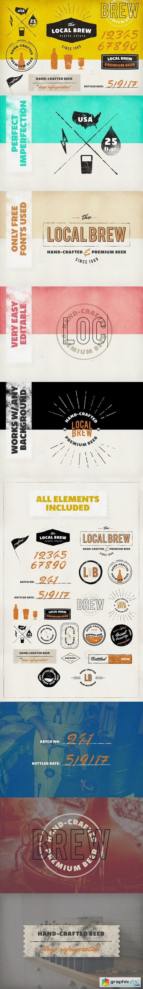 Vintage Logos & Badges: Local Brew