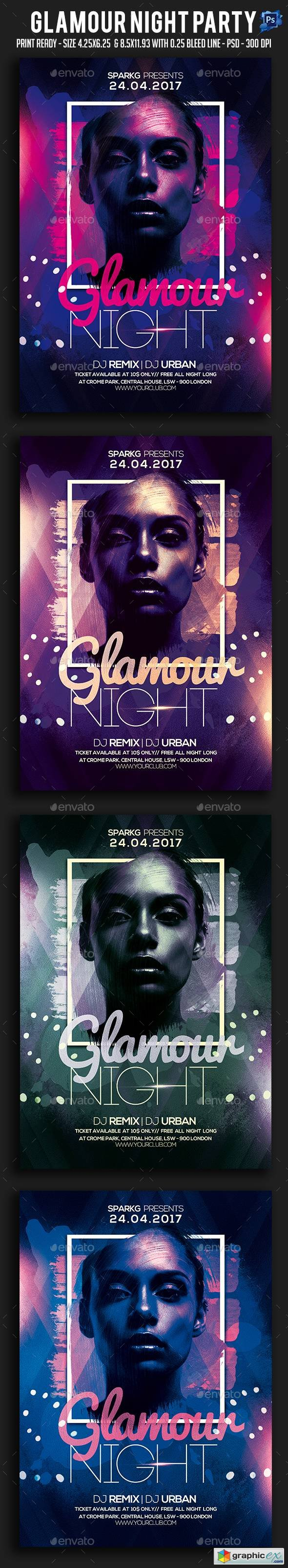 Graphicriver Glamour Night Party Flyer