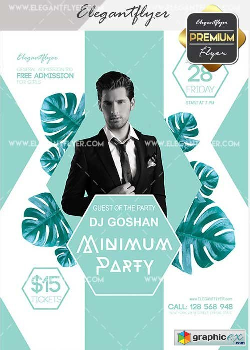 Minimum Party v15 Flyer PSD Template + Facebook Cover