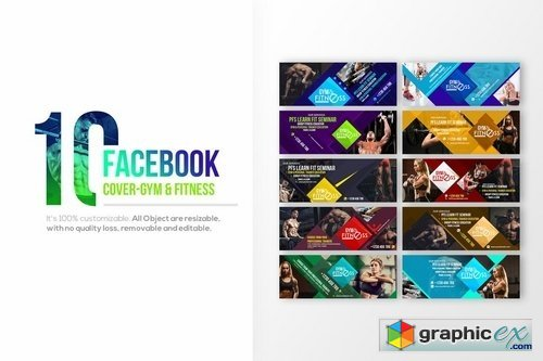 10 Facebook Cover - Fitness & Gym