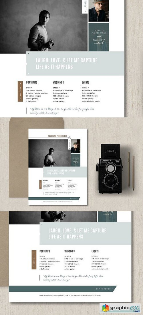 Photographer Pricing Template