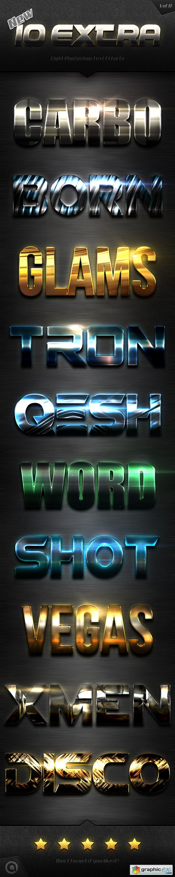 New 10 Extra Light Text Effects Vol.8