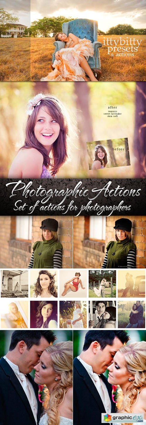 Photographic & Product Covers Photoshop Actions Pro
