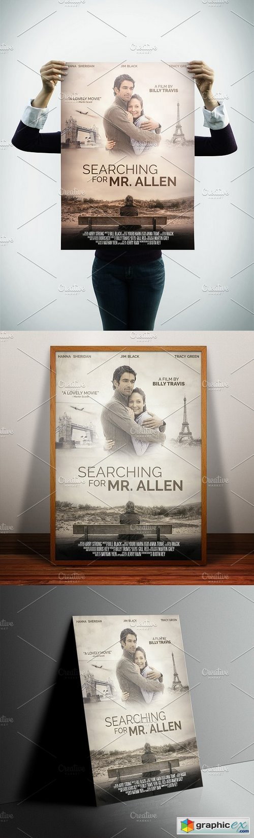 A3 - Movie Poster Print Template 1 » Free Download Vector Stock