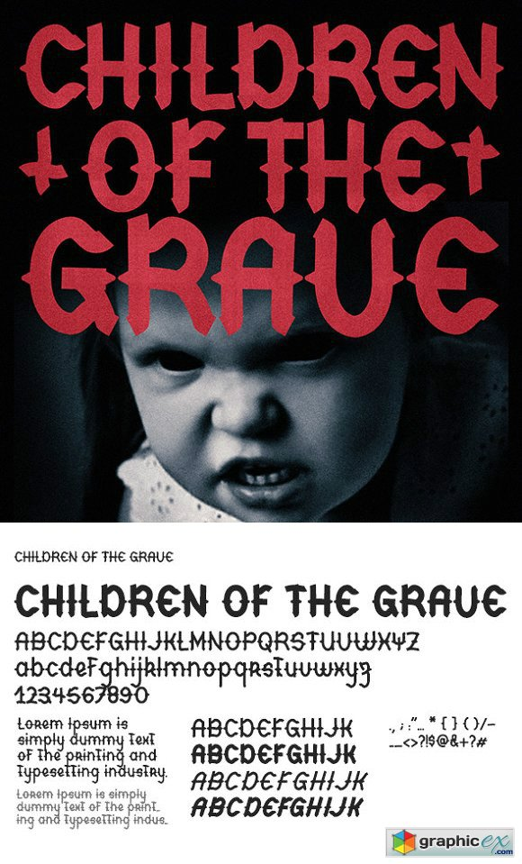Children Of The Grave Font