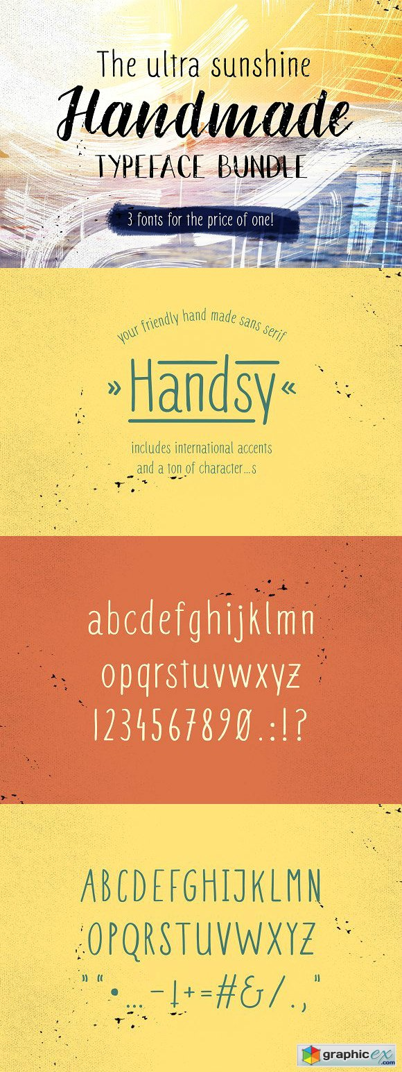Ultra sunshine handmade typefaces