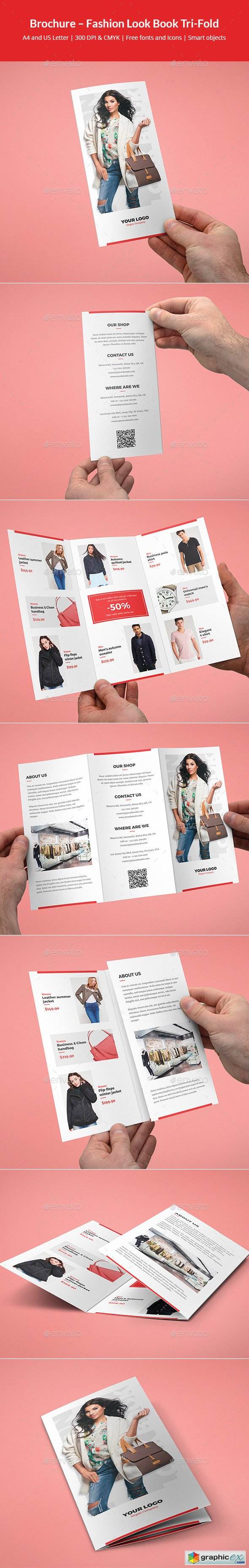 Brochure – Fashion Look Book Tri-Fold