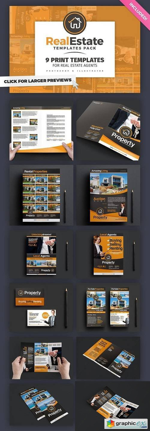 Real Estate Brochure Template Pack