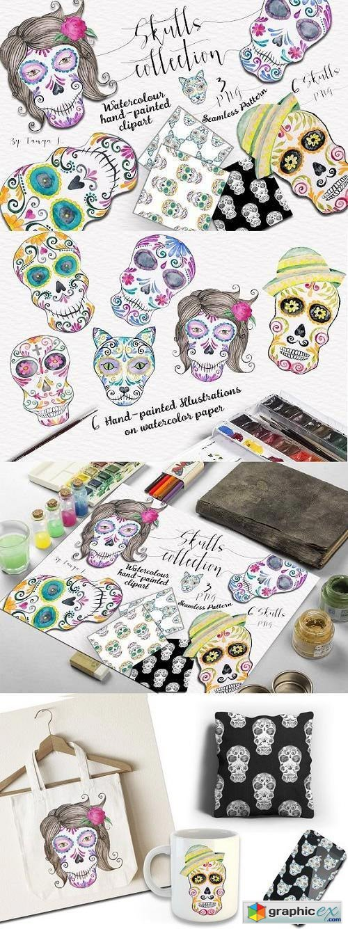 Colorful Skulls Collection