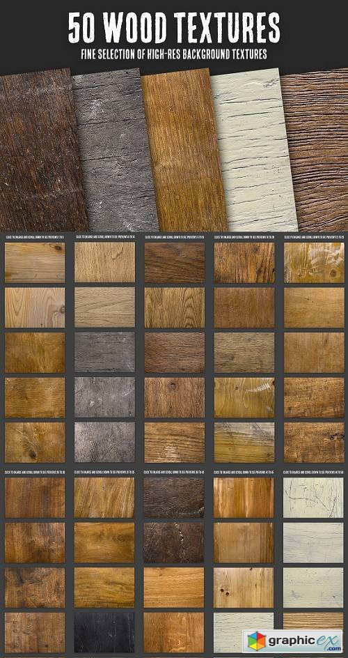 50 Wood Textures Bundle