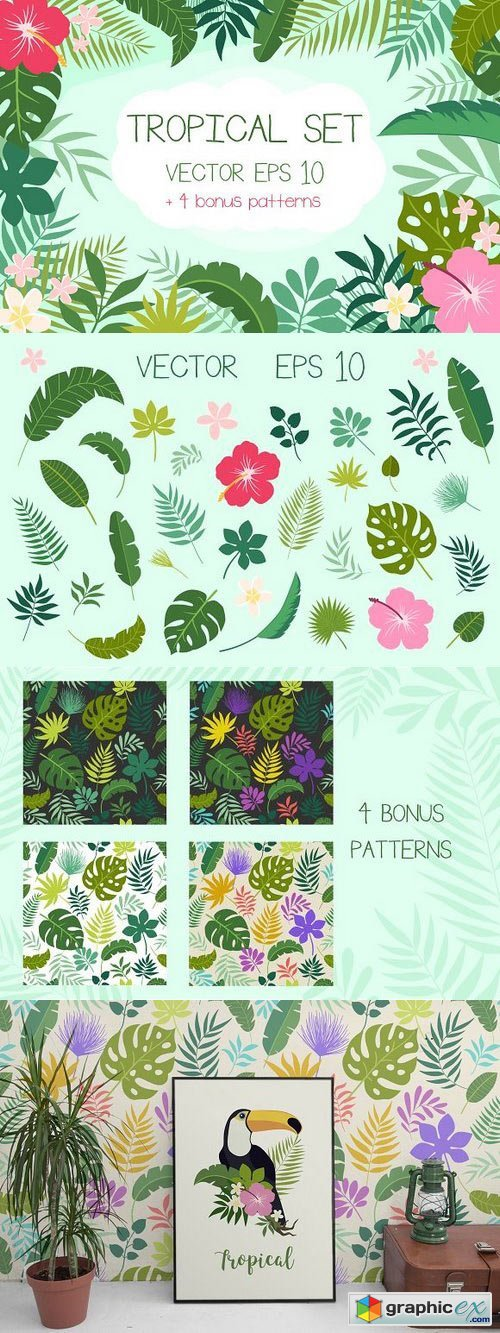 Tropical Set + Bonus Patterns