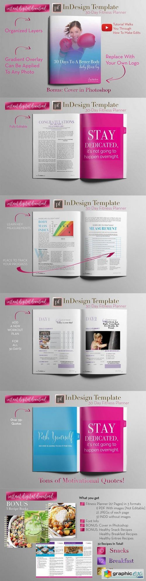 Fitness Planner | InDesign Template
