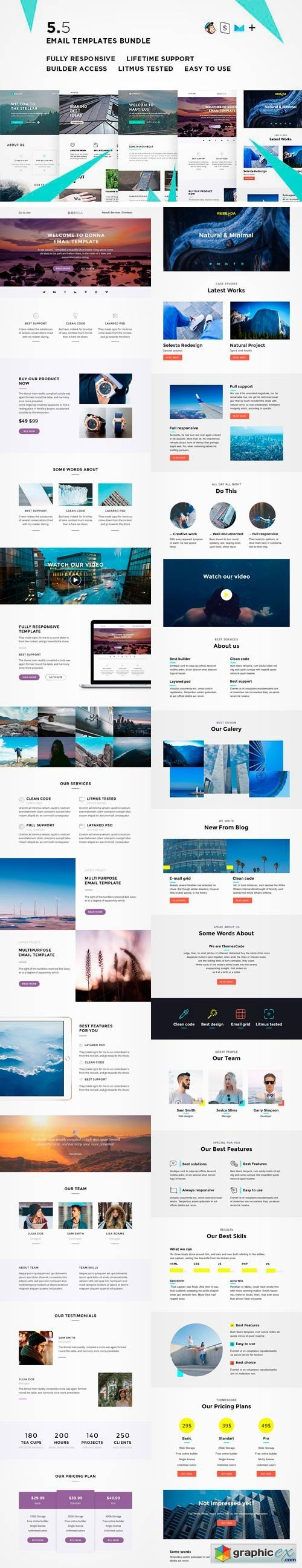 5 Email Templates Bundle V